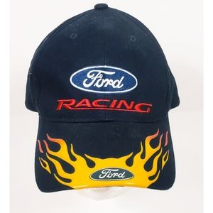 Nascar Ford Racing 3D Flames on Bill 100% Cotton